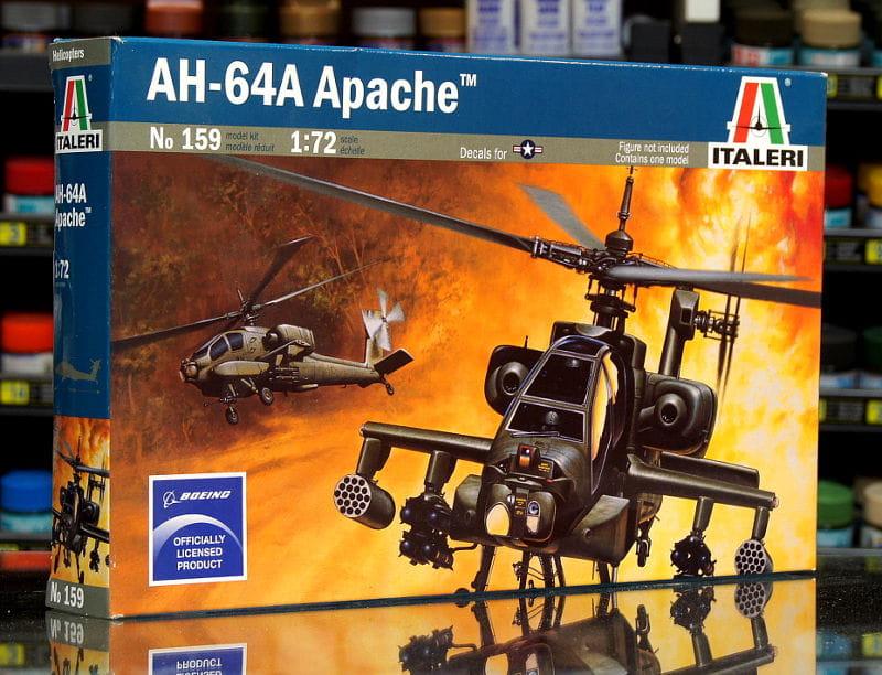 1:72 Boeing AH-64 APACHE - Amerykański Śmigłowiec Szturmowy - Italeri  159